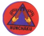 Patch - Navy & Red Nunchaku