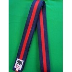 Master Belt-Navy Blue With One Red Stripe 2 1/2